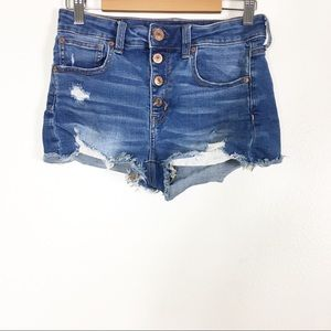 American Eagle Button Fly Hi-Rise Jean Shorts